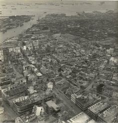 Manila,Philippine Island (1945) Business districk, Destroyed by ''Nips'' — in Manila, Philippines.
