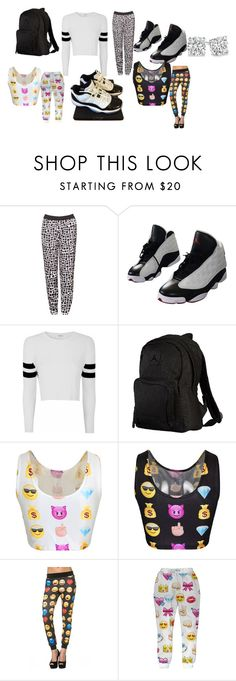 """""""black cat"""" by cturnley ❤ liked on Polyvore featuring beauty, Moka London, NIKE, Glamorous and Ele"""