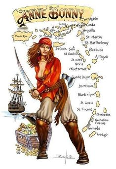 Sexy Anne Bonny - Famous Female Irish Pirate, who used the Virgin Islands as her. - Sexy Anne Bonny – Famous Female Irish Pirate, who used the Virgin Islands as her hideout & a plac - Pirate Day, Pirate Wench, Pirate Woman, Pirate Life, Pirate Queen, Pirate Halloween, Pirate Theme, Anne Bonny, Pirate History