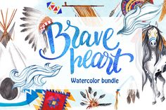 Brave Heart Watercolor Bundle