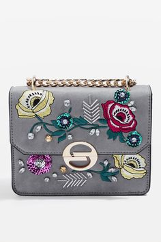 Rae Floral Embroidered Cross Body Bag