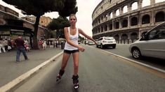 Doop Skates Rolling Through Rome  ...Love this! More Rome...less Doop-:)