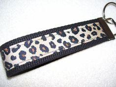 KEY FOBWrist Key ChainCheetah Leopard Print by PinkPinsandNeedles, $6.00