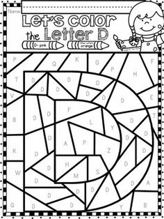 Alphabet Letter Of The Week Program - Alphabet Letter D Package Coloring Letters, Abc Coloring Pages, Free Coloring, Coloring Sheets, Preschool Learning Activities, Alphabet Activities, Letter D Crafts, Phonics For Kids, Kindergarten Language Arts