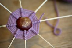 Craft ideas for kids: Gather stacks of shiny, round conkers this autumn and make nature creatures, spider's webs, and a natural pull-along toy for your toddler. Pinecone Crafts Kids, Easy Fall Crafts, Pine Cone Crafts, Crafts For Kids To Make, Kids Diy, Creative Crafts, Fun Crafts, Conkers Craft, Garden Crafts For Kids