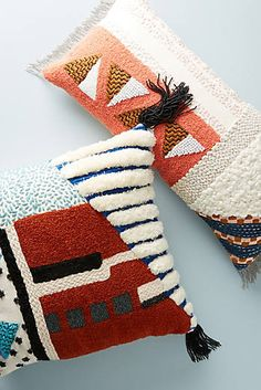 Shop the Embellished Shape Study Pillow and more Anthropologie at Anthropologie . Shop the Embellished Shape Study Pillow and more Anthropologie at Anthropologie today. Diy Pillows, Decorative Pillows, Throw Pillows, Cushions, Pillow Embroidery, Punch Needle Patterns, Idee Diy, Boho Diy, Decorating On A Budget
