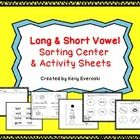 Getting young students to 'master' long and short vowel sounds can be tricky! This pack can help!!    I designed this pack to review and compare each...
