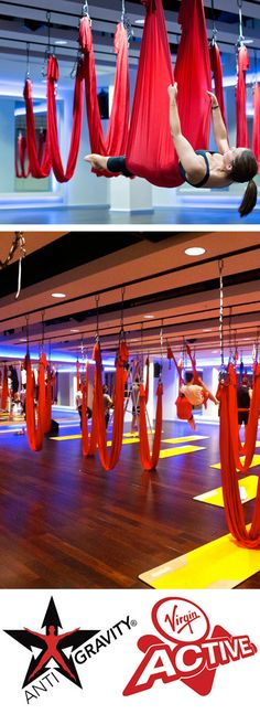AntiGravity Yoga - amazing fun and some pretty intense core and arm work in places.