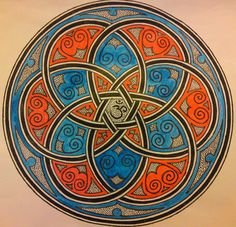 https://flic.kr/p/9H9Z3L | Celtic mandala | media...pen and watercolor, while listening to this youtu.be/fevIzXqjCfU  part 1/12