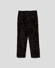 Shimmery Velvet Trousers, Black (39.95 EUR)