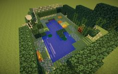This would be an awesome backyard! Minecraft Garden, How To Play Minecraft, Minecraft Stuff, Minecraft Ideas, Minecraft Bridges, Minecraft Buildings, Minecraft Decorations, Minecraft Creations, Disney Infinity