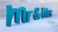 DIY or painted Mr  and  Mrs wedding signs wooden Letters by SunFla, $25.00