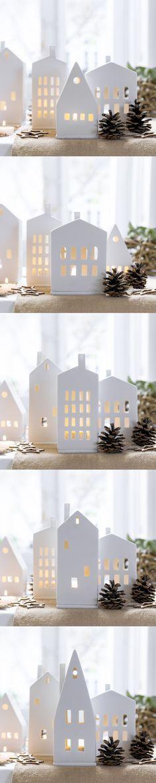 Casitas con luz | Siente la magia de la Navidad con los productos que Kenay Home ha preparado para ti. Podrás dar un toque cálido y acogedor a tu hogar con estas casitas de cerámica. Ponle una vela y colócala junto al árbol, en el recibidor o donde prefieras, en cualquier lugar quedará ideal. #kenayhome #kenay #home #portavelas #luz #velas #cerámica #casita #blanco #diseño #interior #nórdico #escandinavo #navidad #christmas #design #nordik #candle #decoration #ceramic