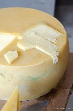 São Jorge PDO (Protected Designation of Origin) cheese, Azores, Portugal.  www.foodjourneys.pt
