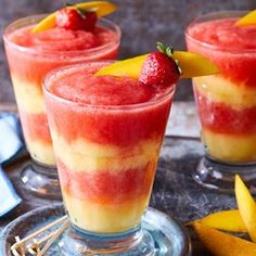 Layered Strawberry-Mango Margaritas - EatingWell.com