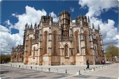 Batalha monastery. Late Gothic church, one of the 7 wonders of Portugal. Has never been finished.