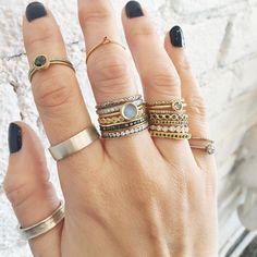 Satomi Kawakita stacking rings available at ESQUELETO