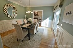Nice wall color for a dining room