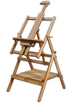 Loxley essex large artists wooden studio painting easel all media angle top Watercolor Kit, Art Easel, Wooden Easel, 3d Modelle, Art Studios, Art Supplies, A Table, Outdoor Chairs, Woodworking Projects