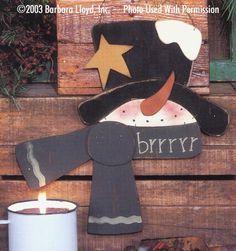 000058 (6) Brrrrr Snowmen-Snowman, Snowmen, Christmas, wood kit, puzzle, Barbara Lloyd