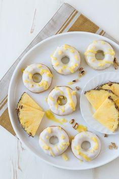 Pineapple Walnut Donuts @FoodBlogs