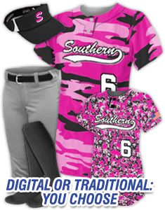 Sublimated Camo Jerseys for women/girls.
