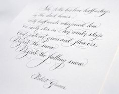 Handwritten calligraphy poem - Robert Graves