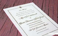 Fleur de Lis Wedding invitation - New Orleans style wedding