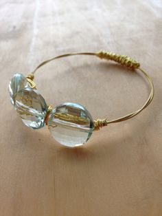 Handmade eco friendly gold guitar string by ChapterIIICreations, $20.00