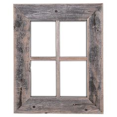 This rustic barn wood window frame is made from 100% recycled wood. With it's weathered look it adds the perfect touch to your favorite cozy spot. If you are looking for rustic wall decor and gifts, this barn wood frame is it.