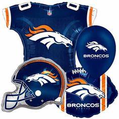 Denver Broncos 17-Pack Balloon Party Set