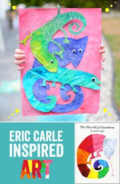 Eric Carle Inspired Art - The Mixed Up Chameleon