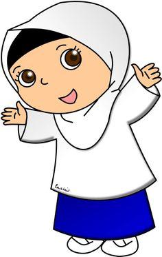 Doodle Girl, Cute Doodle Art, Cute Doodles, School Cartoon, Islamic Cartoon, Islamic Posters, Anime Muslim, Blog Backgrounds, Smurfs