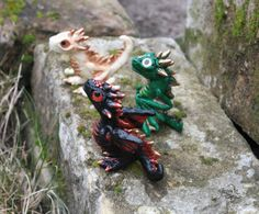 Game of Thrones dragons set - Drogon Rhaegal Viserion - baby dragon figurine - dragon sculpture - fantasy - targaryen dragons - polymer clay - fimo art - hadmade - by GloriosaArt on Etsy