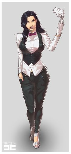 Zatanna (Zatanna Zatara) is a fictional character, a super-heroine in the DC Comics universe. Zatanna Dc Comics, Héros Dc Comics, Comics Anime, Dc Comics Girls, Dc Comics Characters, Female Characters, Dc Comics Women, Batman Comics, Catwoman