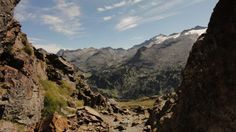 Walking from France to Spain through the Port de Venasque, near Luchon, French Pyrenees