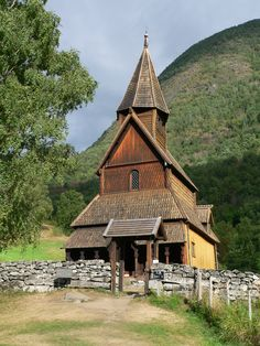 Urnes Stave Church is a 12th-century stave church at Ornes, along the Lustrafjorden in the municipality of Luster in Sogn og Fjordane county, Norway. It sits on the eastern side of the fjord, directly across the fjord from the village of Solvorn and about 5 kilometres (3.1 mi) east of the village of Hafslo. In 1979, the Urnes Stave Church was listed as a World Heritage Site by UNESCO.