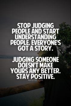 stop judging people, start understanding