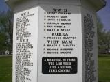 COULD DO FOR 911 ANNIVERSARY (20 YRS) - WWII War Memorial refurbished by high school art class - INSTALLATION ON THE QUAD...