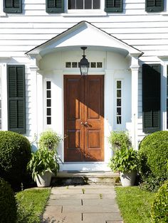 New doorhandles are inexpensive and have a big impact. More ways to update curb appeal: http://www.bhg.com/home-improvement/exteriors/curb-appeal/make-a-better-first-impression/?socsrc=bhgpin072312newdoorhandles