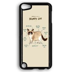 Anatomy Of A Grumpy Kitty iPod Touch 5 Case