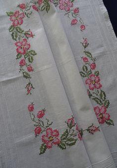 Vintage German hand embroidered white by EuropeanThreadwork