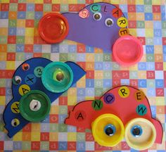 Toddler Approved!: Camp Mom: Play-doh Cap Name Cars