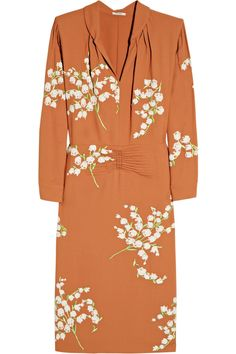 Miu Miu Floral-embellished crepe dress.