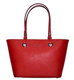 Calvin Klein Bag Saffiano Lipstick Red Leather Handbag CK Purse - http://handbagscouture.net/brands/calvin-klein/calvin-klein-bag-saffiano-lipstick-red-leather-handbag-ck-purse/