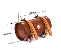 Comfortable Soft Vintage Bicycle Saddle Tail Handlebar Tools Bag, Cylindrical, Handmade - Secret of Diva Leather Gifts, Leather Craft, Leather Wallet, Leather Bag, Bike Saddle Bags, Bike Bag, Leather Bicycle, Motorcycle Leather, Bicycle Accessories