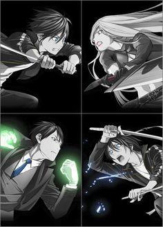 Yato vs Bishamonten, Ebisu vs Yato (Noragami)