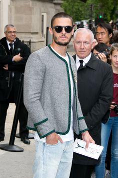 Baptiste Giabiconi à la semaine de la haute couture à Paris.