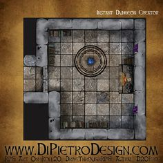 Dungeons By Dan - RPG Artwork for VTT and tabletop games Rpg Map, Dungeon Tiles, D 20, Fantasy Rpg, Tabletop Games, Me On A Map, Games To Play, How To Draw Hands, Artwork