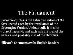 The Firmament of Heaven